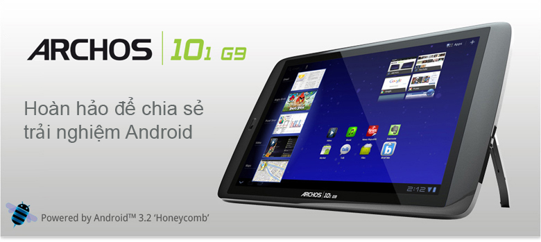 ARCHOS 101 G9 Turbo 1.2 GHz - 16GB WiFi + 3G